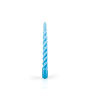 Twisted Candles Light Blue