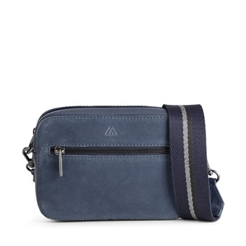 Markberg Elea Bag Navy Suede Mix